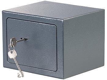 Mini-Safe-Tresor 5 Liter Kompakter Stahlsafe mit 2 Doppelbart-Schlüsseln