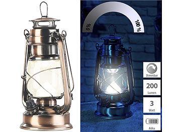 Lunartec Sturmlaterne: Ultra helle LED Sturmlampe mit Akku