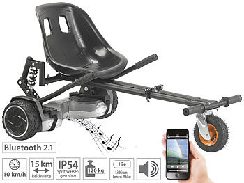 2in1-Elektro-Scooter & Kart mit Federung, 600 W, bis 120 kg / Hoverboard