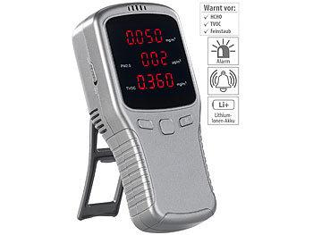 5in1-Akku-Feinstaub-Messgerät für HCHO, PM1/2,5/10 und TVOC / Feinstaubmessgerät