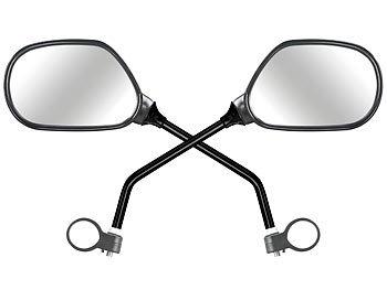PEARL Fahrradspiegel: 2er Set Fahrrad Rückspiegel mit