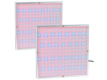 2er-Set Profi LED-Pflanzen-Wachstums-Leuchtpanels mit je 225 LEDs / Pflanzenlampe