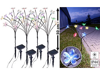 LED Garten-Leuchtstäbe mit kleinen Sternen-Aufsätzen