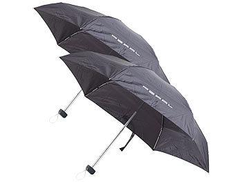 2er-Set Mini-Regenschirm mit Transporthülle, extraleicht, 16 cm / Regenschirm