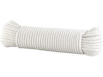 Geflochtenes Baumwollseil, Ø 10 mm, 31 m lang, Natur (beige) / Seil