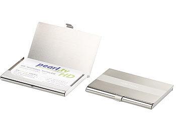 Pearl Visitenkartenhalter 2er Set Ultradünne Visitenkarten