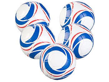 5er-Set Trainings-Fussball aus Kunstleder, 22 cm Ø, Grösse 5, 440 g / Fussball