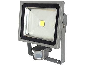 COB-LED-Fluter im Metallgehäuse, 30 W, IP44, PIR, 6500 K | Led Strahler