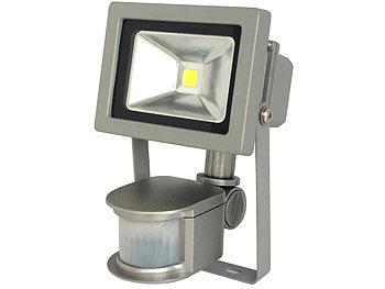 COB-LED-Fluter im Metallgehäuse, 10 W, IP44, PIR, 6500 K | Led Strahler
