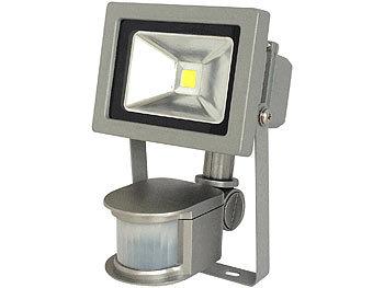 COB-LED-Fluter mit Metallgehäuse, 10 W, IP44, PIR, 4200 K | Led Strahler