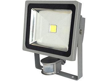 COB-LED-Fluter mit Metallgehäuse, 30 W, IP44, PIR, 4200 K | Led Strahler