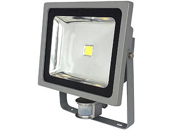 COB-LED-Fluter mit Metallgehäuse, 50 W, IP44, PIR, 4200 K | Led Strahler