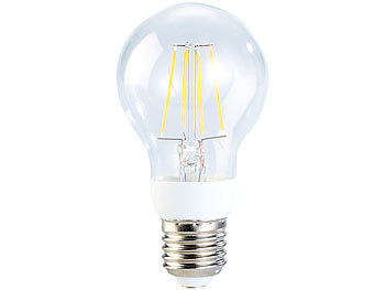 Luminea LED-Filament-Birne mit 4 W, E27, neutralweiß, 5000 K, 400 lm, 360° Luminea LED-Filament-Tropfen E27 (neutralweiß)