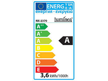 Luminea LED-Filament-Birne, 3,6 W, E27, warmweiß, 3000 K, 450 lm, 360° Luminea LED-Filament-Tropfen E27 (warmweiß)