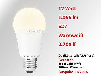 luminea led lampe klasse a 12 w e27 warmwei 3000 k lm 220. Black Bedroom Furniture Sets. Home Design Ideas