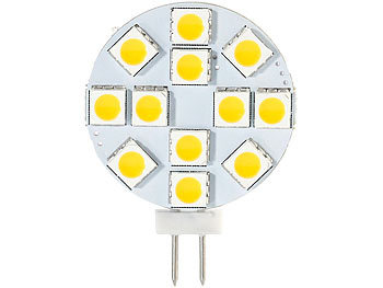 Luminea High-Power G4-LED-Stiftsockel mit SMD5050-LEDs, 3,6 W, weiß, 4er-Set Luminea LED-Stifte G4 (tageslichtweiß)