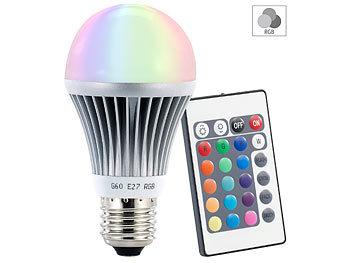 led lampe e27 farbwechselnd inkl fernbedienung 4er set lunartec led. Black Bedroom Furniture Sets. Home Design Ideas