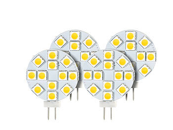 Luminea High-Power G4-LED-Stiftsockel, SMD5050-LEDs, 2,4 W, warmweiß, 4er-Set Luminea LED-Stifte G4 (warmweiß)