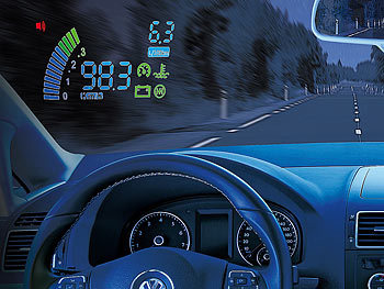 "Lescars Head-up-Display HUD-24C (5,5"" Projektion) für OBD2-Anschluss Lescars Head-up-Displays"