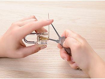 Lockpicking-Werkzeug mit 7 Dietrichen /& Spanner Lockpicking-Pick-Set Edelstahl PEARL Lockpicking-Set
