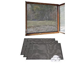 infactory insektennetz 3er set fliegengitter f r fenster 130 x 150 cm inkl 6 m klebeband. Black Bedroom Furniture Sets. Home Design Ideas