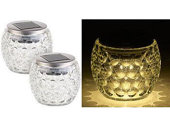 lunartec led deko solarlampen solar led windlicht glas. Black Bedroom Furniture Sets. Home Design Ideas