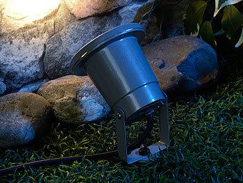luminea bodenlampen indoor pflanzenstrahler einflammig gu10 grau 1 5m kabel gartenlampe. Black Bedroom Furniture Sets. Home Design Ideas