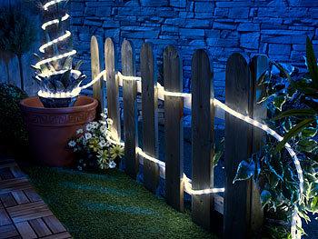 20M LED Lichterschlauch Lichtschlauch Warmweiß Lichterkette Außen Beleuchtung
