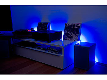 lunartec led streifen lx 500n 5 m rgbw innen netzteil fernbed. Black Bedroom Furniture Sets. Home Design Ideas