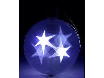 Led Weihnachtskugeln.Lunartec Weinachtskugeln 2er Set Led Weihnachtskugeln Mit 3d Effekt