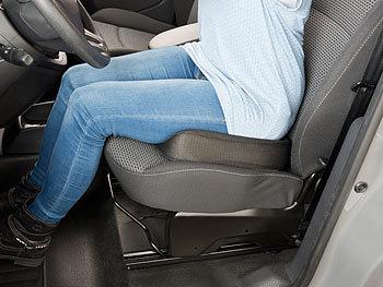 POUPDM Auto Kopfst/ütze Auto Memory Foam Baumwolle Sitzkissen Stoffbezug gepolsterte Kopfst/ütze Reiseb/üro Unterst/ützung wei/ß Stoff cremig