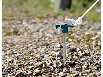 Semptec Zeltheringe: 12er Set Felsbodenheringe für steinigen
