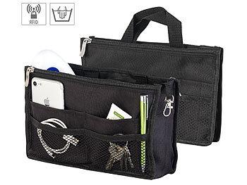 Handtaschen-Organizer, RFID-Schutz, 13 Fächer, 26 x 16 x 8 cm, schwarz / Handtaschen Organizer