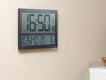 infactory jumbo uhr digitale funk wanduhr mit jumbo lcd display und au ensensor 3 kan le. Black Bedroom Furniture Sets. Home Design Ideas