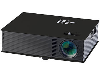 SceneLights LED-Beamer mit Mediaplayer LB-8001.mp mit USB und HDMI SceneLights LED Beamer