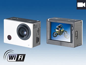 Somikon Full-HD-Action-Cam DV-850.WiFi mit Farb-Display, Fernbedienung Somikon Action-Cams Full HD
