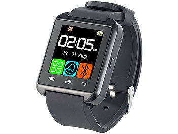 Callstel Freisprech-Smartwatch SW-100.tch, Bluetooth 3.0 + EDR Callstel Bluetooth Freisprech Smartwatches