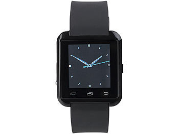 Callstel Freisprech-Smartwatch SW-100.tch mit Bluetooth 3.0 + EDR Callstel Bluetooth Freisprech Smartwatches