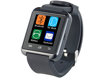 Callstel Freisprech-Smartwatch SW-100.tch, Bluetooth 3.0 + EDR (refurbished) Callstel Bluetooth Freisprech Smartwatches