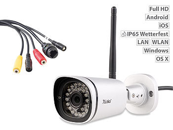 7links Wetterfeste IP-Kamera IPC-850.FHD mit 1080p Full HD und SofortLink 7links