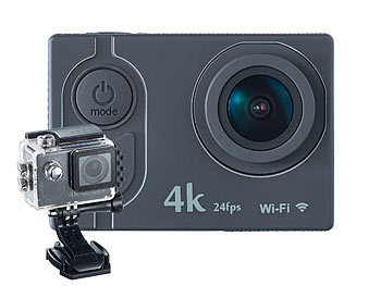 Somikon 4K-Action-Cam, UHD-Videos, 16-MP-Sensor, IP68 (Versandrückläufer)