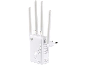 WiFi Verstärker: 7links Dualband-WLAN-Repeater WLR-1221.ac, AccessPoint & Router, 1.200 Mbit/s
