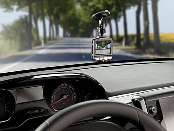 "NavGear Full-HD-Dashcam MDV-2750 mit G-Sensor, 2,3""-Display (5,8 cm) NavGear Dashcams mit G-Sensor (Full HD)"