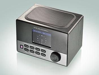 VR-Radio WLAN-Internetradio mit Wecker, USB-Ladestation, 8 Watt, 8,1 cm TFT VR-Radio Internetradios Wecker & USB Ladestationen