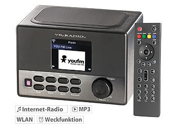 VR-Radio WLAN-Internetradio-Box IRS-600 Wecker USB-Ladestation, 8W(refurbished) VR-Radio Internetradios Wecker & USB Ladestationen