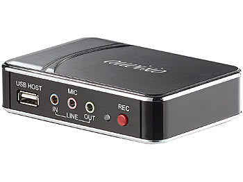 "auvisio HDMI-Video-Rekorder ""Game Capture V2"", Full HD, H.264-Videokompression auvisio Full-HD HDMI- & Game-Recorder"