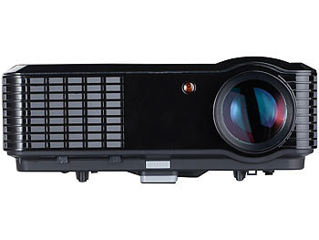SceneLights LED-LCD-Beamer LB-9300 V2 mit Media-Player, 1280 x 800 (HD), 2.800 lm SceneLights LED-Heim-Beamer