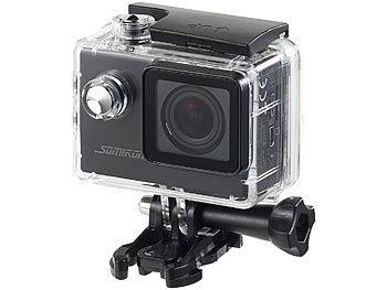 somikon unterwasserkamera einsteiger 4k action cam wlan. Black Bedroom Furniture Sets. Home Design Ideas