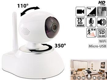 HD-IP-Kamera mit Nachtsicht, 433-MHz-Funkschnittstelle & Alarmfunktion / Überwachungskamera
