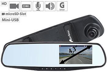 navgear autospiegel mit kamera hd r ckspiegel dashcam mit. Black Bedroom Furniture Sets. Home Design Ideas